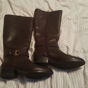 Ralph Lauren leather boots size 8 almost new